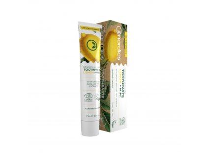 Zubní pasta Citron+Máta BIO 75 ml Nordics
