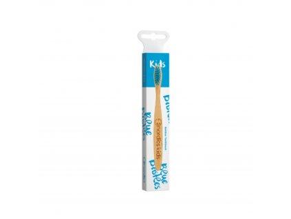 Dětský bambusový zubní kartáček Nordics - modrý
