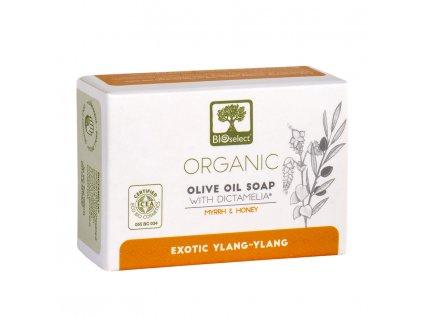 BIOselect® BIO olivové mýdlo YLANG - YLANG s diktamem 80g BIOselect®