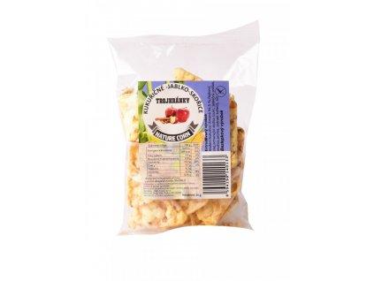 N&S Food Trojhránky kukuřičné Jablko se skořicí 25g