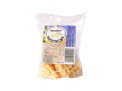 N&S Food Trojhránky kukuřičné Zakysaná smetana,jarní cibulka 25g