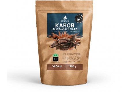 Akce Bio Karob - svatojánský chléb prášek 200g Allnature