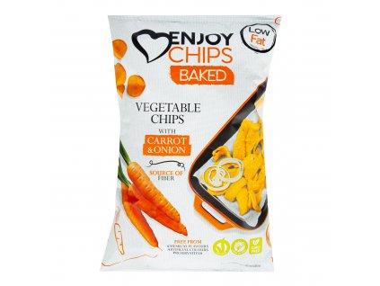Enjoy Chips pečené s mrkví a cibulí 40 g NEW DELESPINE