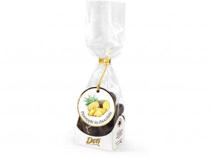 Ananas v čokoládě - dárková taštička 100g