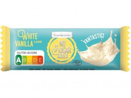 Tyčinka Čokoládová bílá - Vanilka bez přidaného cukru 50g Frankonia