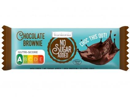 Tyčinka Čokoláda Brownie bez přidaného cukru 50g Frankonia