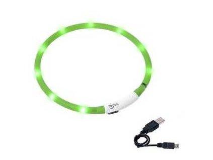 Karlie LED obojek dobíjecí zelená 75 cm