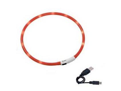 Karlie LED obojek dobíjecí oranžová 75 cm