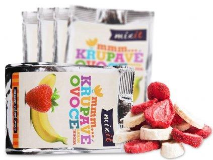 Křupavé ovoce do kapsy - Banán + Jahoda (5 ks)