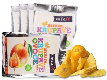 Křupavé ovoce do kapsy - Mango + Physalis (5 ks)