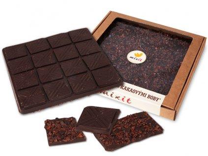 Čokoláda 'Hořká s kakaovými boby' 250g