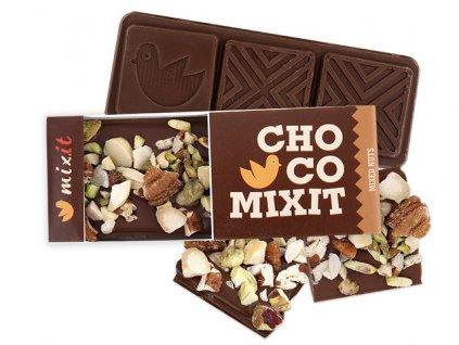 Čokoláda Mini - Mléčná s ořechy (8ks) 8x50g