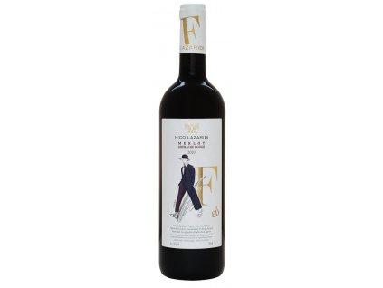 Nico Lazaridi vinařství Červené suché víno MERLOT F-eú 2018 NICO LAZARIDI 750ml design: ON