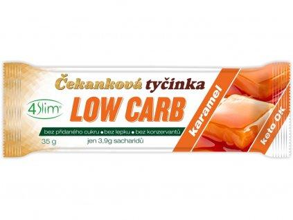 Čekanková tyčinka Low Carb karamel 35g 4Slim