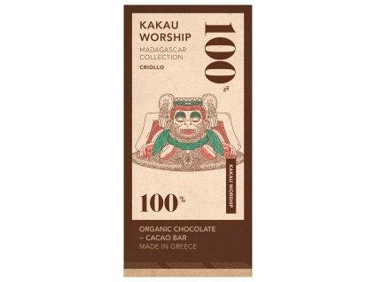 100% BIO hořká čokoláda KAKAU WORSHIP kolekce MADAGASKAR 75g KAKAU