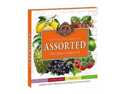 ASSORTED Fruit&Flavoured čaj 20ns Basilur