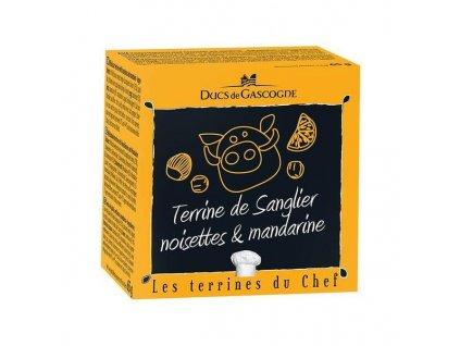 Ducs de Gascogne Kančí terina s lískovými oříšky a mandarinkou, 65g