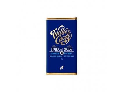 Baby Willie's Cacao mléčná čokoláda MILK OF THE GODS, Rio Caribe 44%, 26g