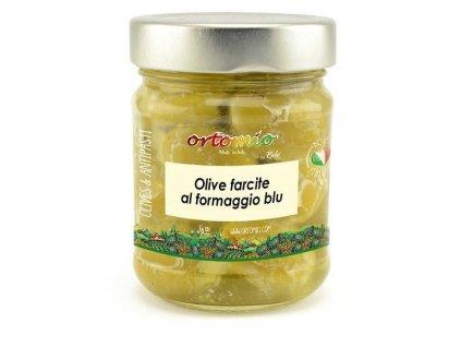 Ortomio Olivy plněné sýrem Blue cheese, 212 ml