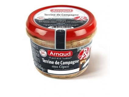 "Arnaud Farmářská terina s hříbkem ""LABEL ROUGE"", 180g"