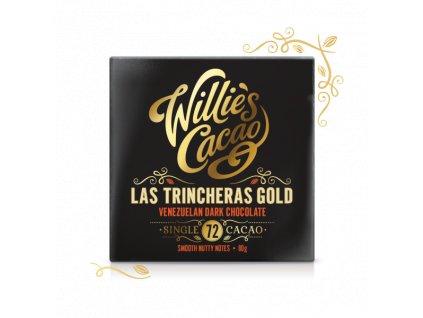 Willie's Cacao Čokoláda Venezuelan Gold, Las Trincheras hořká 72%, 50g