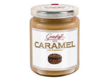 "Grashoff Karamelový krém ""Espresso"", sklo, 250g"
