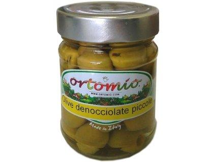 Ortomio Zelené olivy bez pecky ve slaném nálevu, 212ml