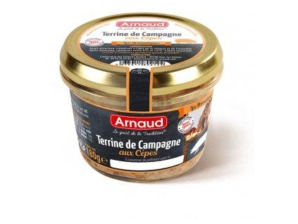 Arnaud Farmářská terina s hříbkem, 180g