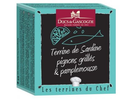 Ducs de Gascogne Terina ze sardinek s opékanými piniovými oříšky a grapefruitem, 65g