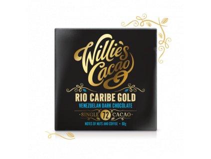 Willie's Cacao Čokoláda Venezuelan Gold, Rio Caribe hořká 72%, 50g