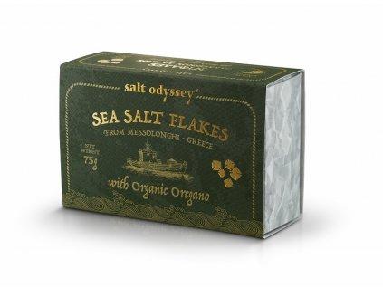 SALT ODYSSEY BIO Mořská sůl ve vločkách OREGANO, 75g