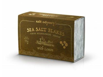 SALT ODYSSEY Mořská sůl ve vločkách CITRON, 75g