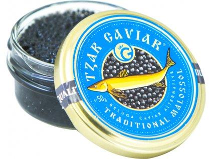 "Gourmet Partners Tzar Delicates ""Beluga Caviar Alternative"" blue - sklenice, 50g"