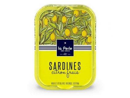 La Perle Francouzké sardinky v extra panenském olivovém oleji s citronem 115g