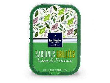 La Perle Grilované Francouzké sardinky s provensálským kořením 115g