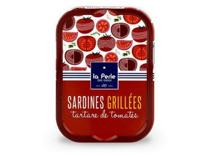 "La Perle Grilované Francouzké sardinky v rajčatovém ""tartare"" 115g"