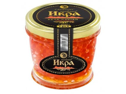 "Gourmet Partners Kaviár z divok. lososa ""KETA GOLD"", 200g"