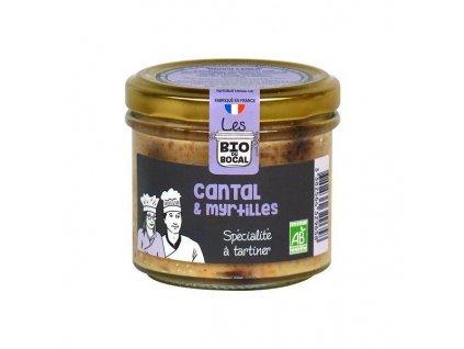 Ducs de Gascogne BIO delikatesa se sýrem Cantal a borůvkami, 90g