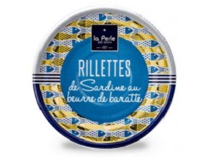 La Perle Rillety ze sardinek na pravém másle, 80g