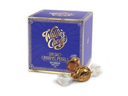 Willie's Cacao Pralinky Caramel Pearls mléčné se slaným karamelem, 150g