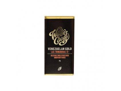 Baby Willie's Cacao hořká čokoláda Venezuelan Gold, Las Trincheras 72%, 26g