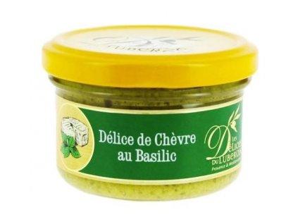 Delices du Luberon Pochoutka s kozím sýrem a bazalkou, sklo 90g