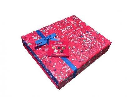 DESOBRY Dárková sada belgických čokoládových sušenek Red and Blue, 420g