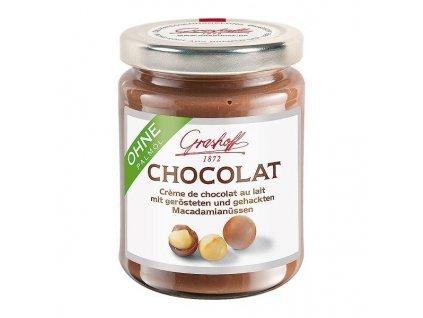Grashoff Mléčný čokoládový krém s praženými makadamiovými oříšky, sklo, 250g