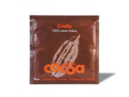 """MINI Becks Cocoa BIO rozpustná čokoláda """"CRIOLLO"""" s nejlepším 100% kakaem v sáčku 20g"""