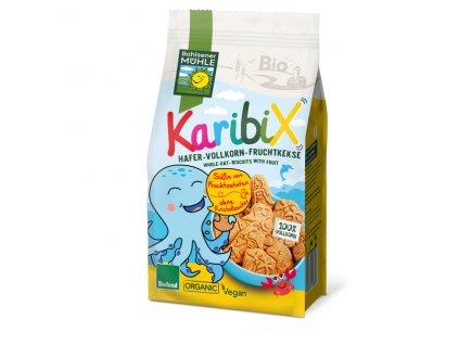 Keksy ovesno-ovocné celozrnné KARIBIX 125 g BIO BOHLSENER MÜHLE