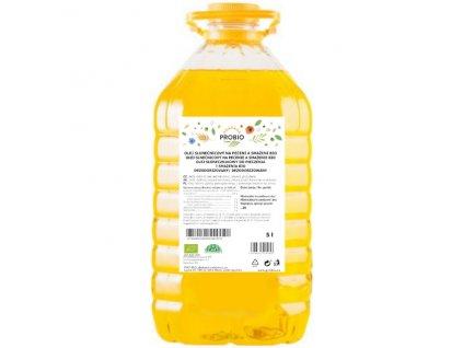 GASTRO - Olej slunečnicový na pečení a smažení- dezodorizovaný BIO 5 l PROBIO