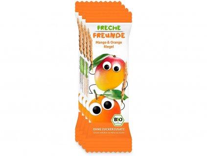 Bio Ovocná tyčinka Mango a pomeranč 4x23g Freche Freunde
