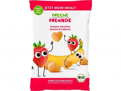 Bio Křupky Kukuřice, banán a jahoda 30g Freche Freunde