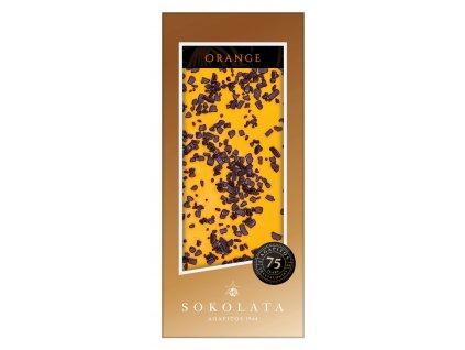 Bílá čokoláda s pomerančem 100gr SOKOLATA AGAPITOS